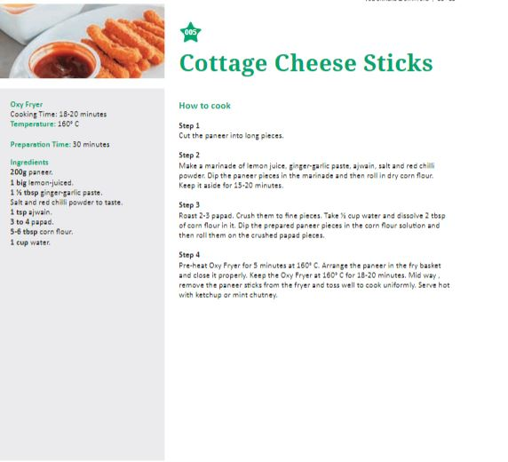 Cottage Cheese Sticks recipe