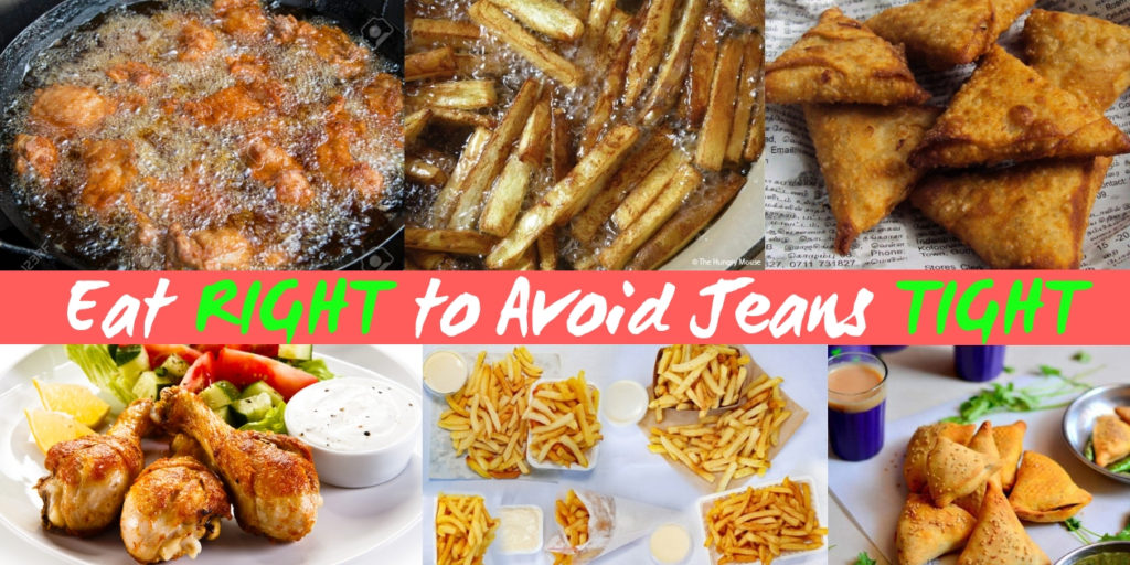 Eat RIGHT to avoid jeans TIGHT