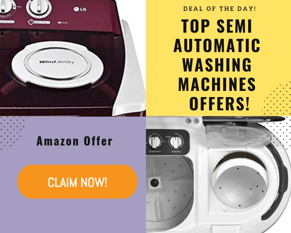 Top Semi Automatic Washing Machines Deals on Amazon