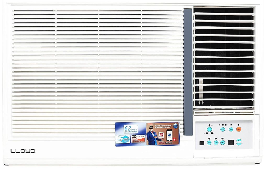 Lloyd 1.5 Ton 5 Star Window AC (Copper, LW19A5X, White)