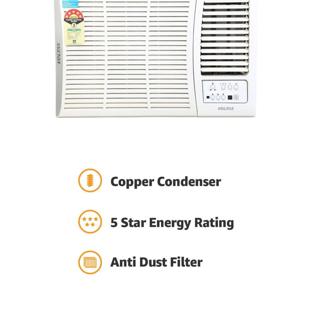 Voltas 1.5 Ton 5 Star Window AC (Copper,185 DZA)