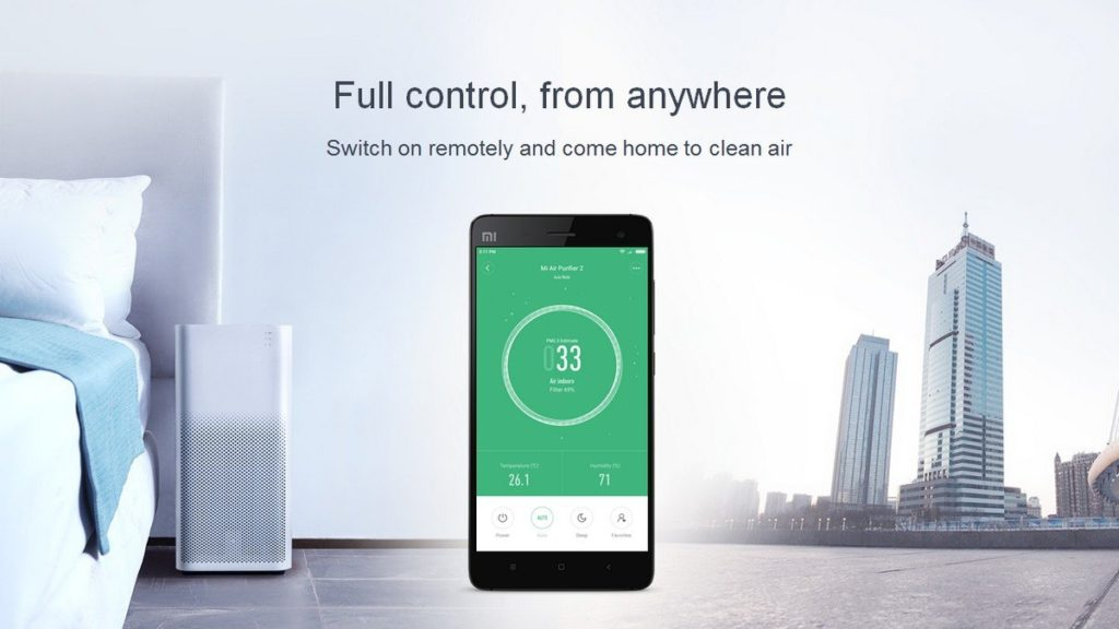 MI Air purifier features smart phone control