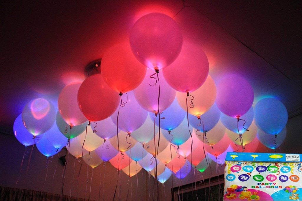LED balloons birthday decoration