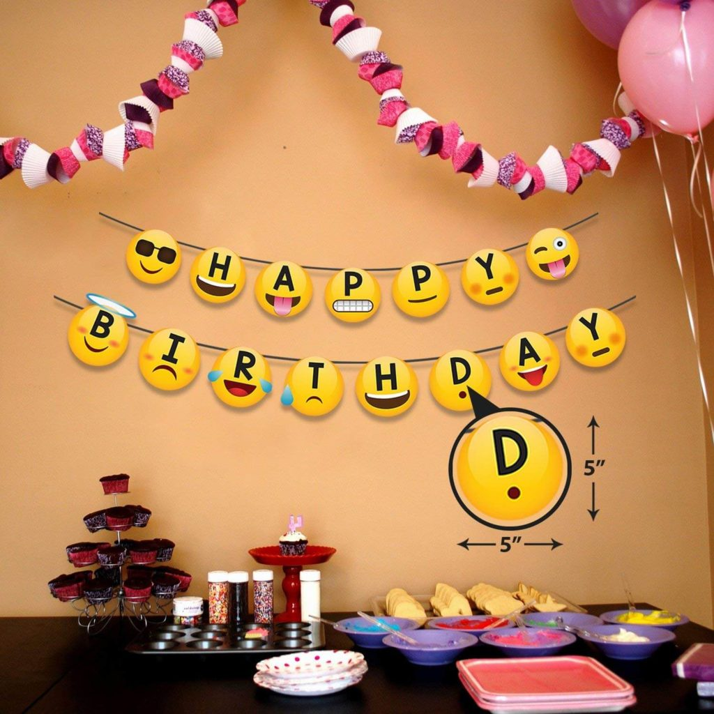 Smiley Emoji birthday decoration