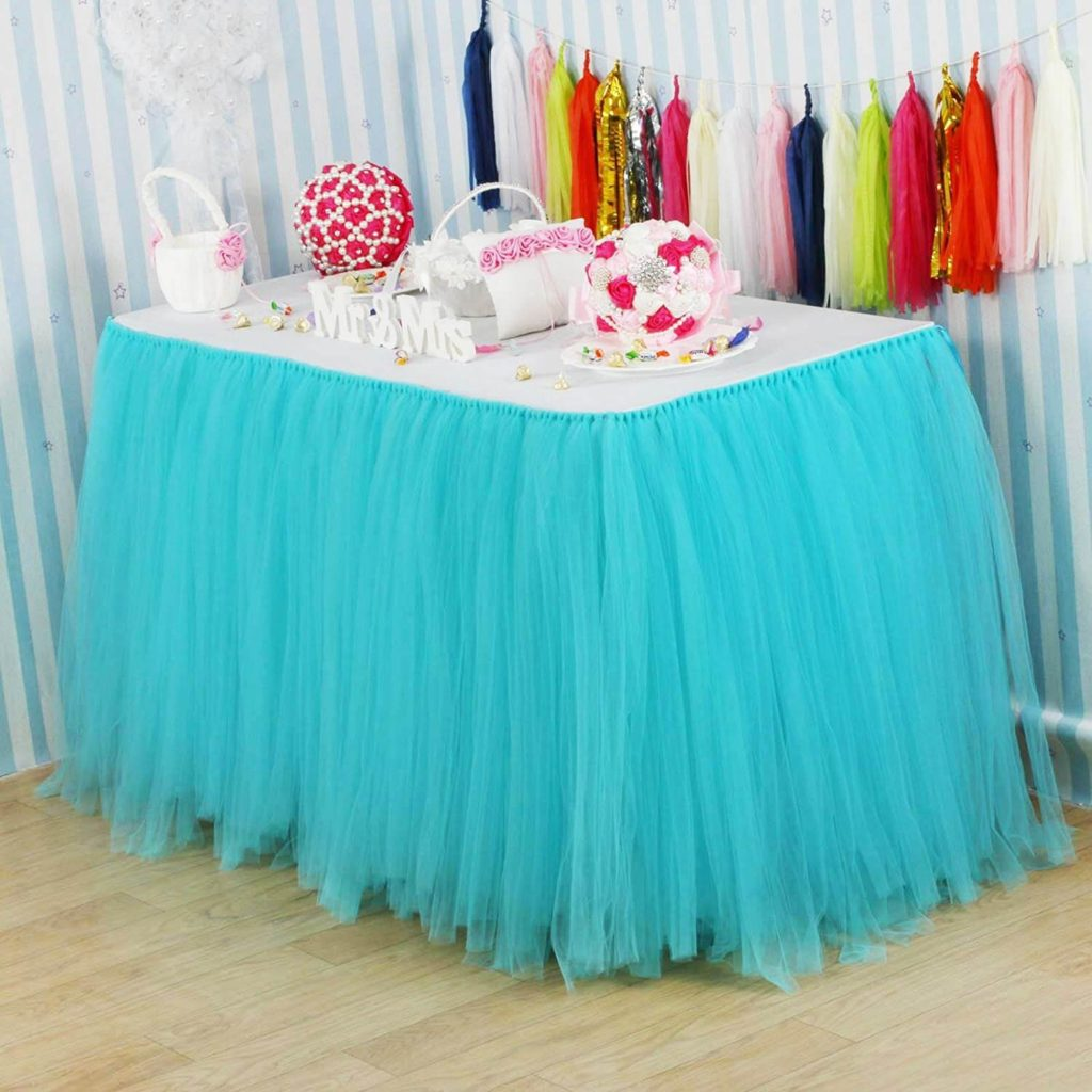 Table skirt cover for birthday parties